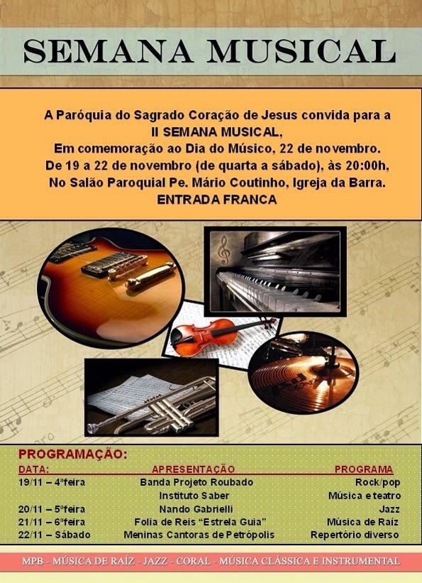 II Semana Musical de Teresópolis da Paróquia do Sagrado Coração de Jesus