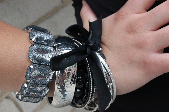 Silver and Black Arm Party