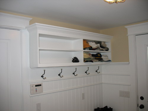 Mudroom Designs with Wainscoting