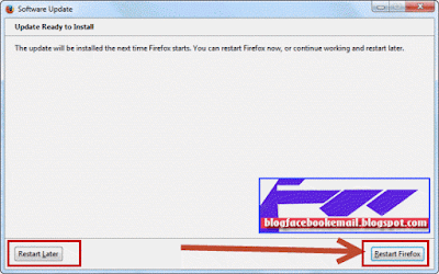 update dan restart firefox