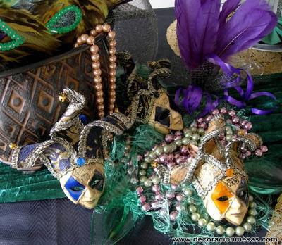 decoracion mesa carnaval detalles