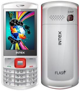 Touch Type Dual SIM Mobile Intex IN 009T Flash