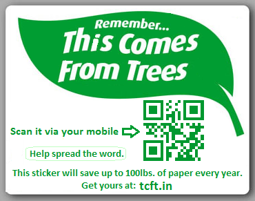 This Comes From Trees Sticker