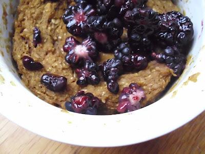 Microwave Pumpkin Oat Cake