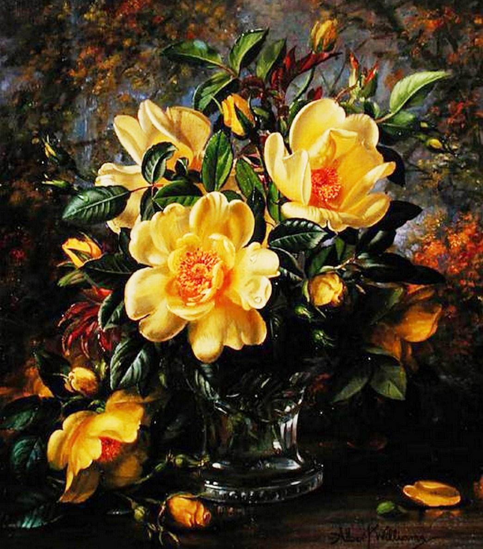 Cuadros modernos pinturas y dibujos cuadros de flores al - Cuadros clasicos modernos ...