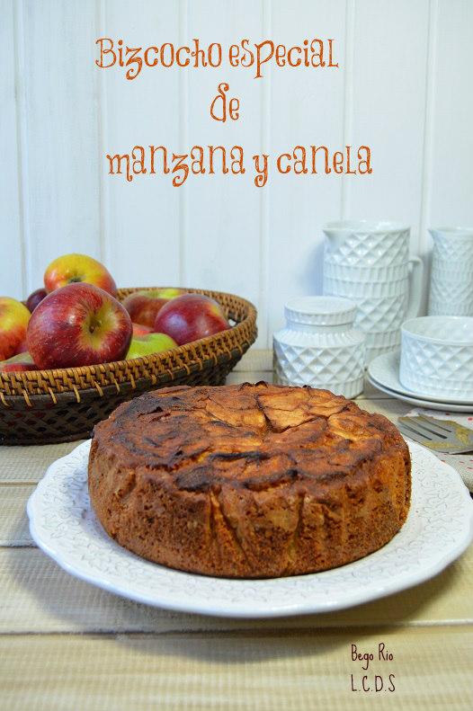 La cocina de samira bizcocho especial de manzana y canela for Bizcocho de manzana y canela