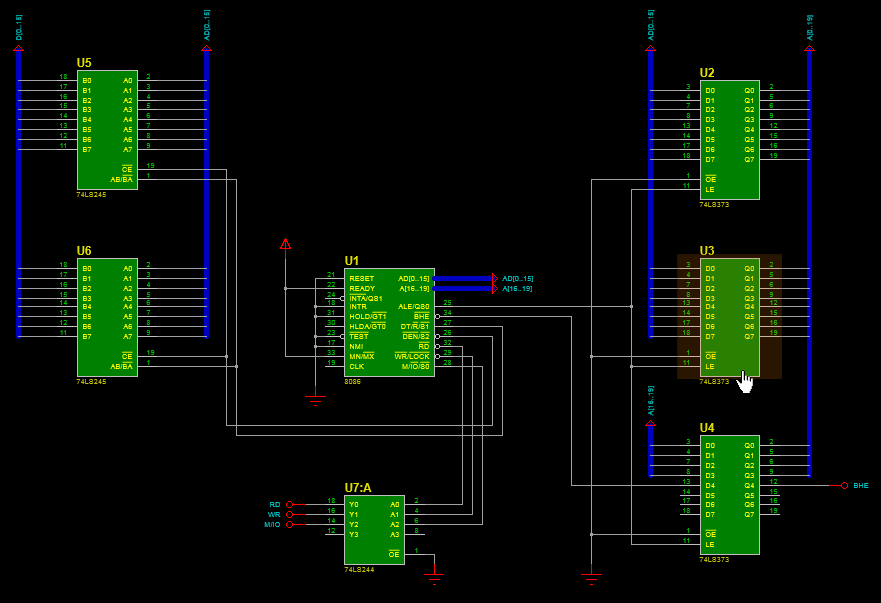 Interfacing 8086 microprocessor