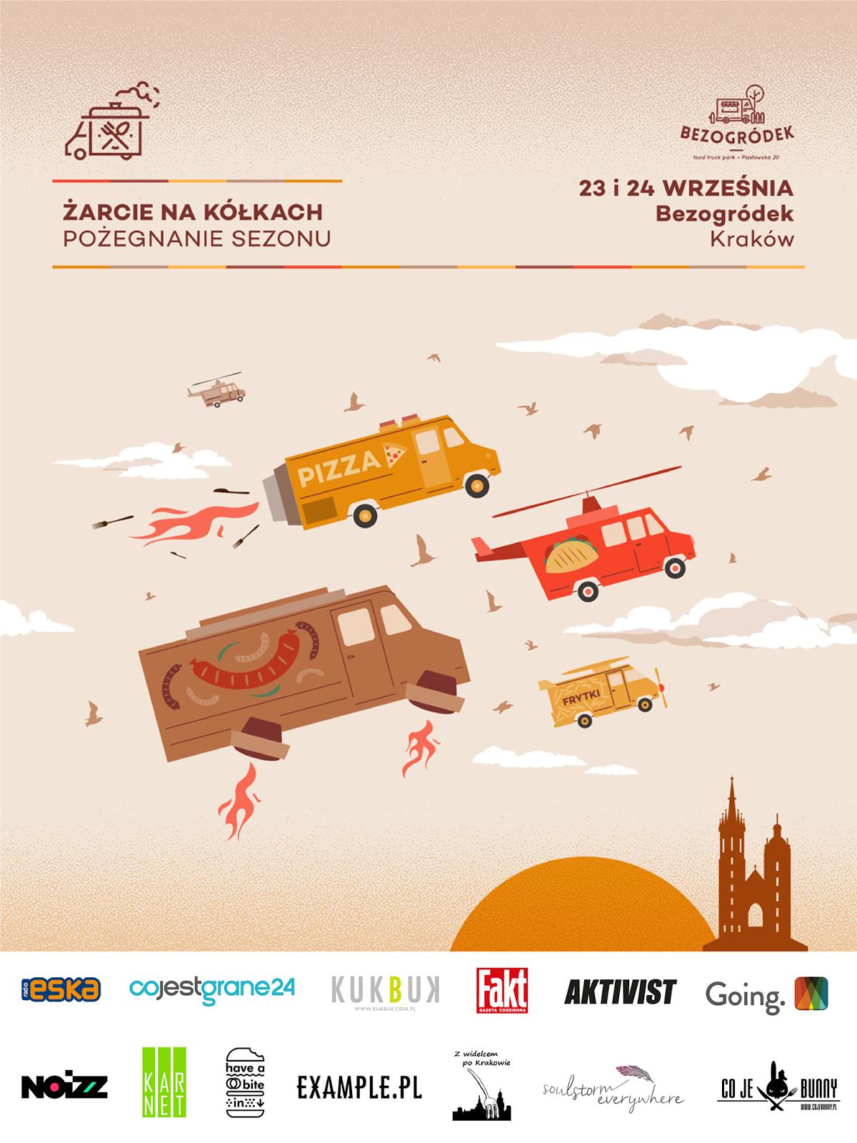 Zlot Food Trucków - Kraków 23-24.09!