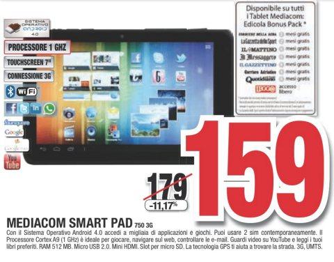 Tornano i prezzi in saldo sull'hightech da Comet con il Mediacom 750 3G dual sim a 159 euro