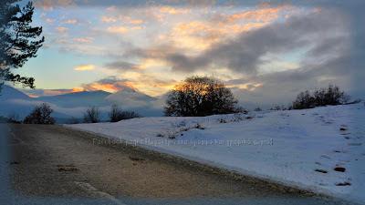 Pagoneri-ηλιοβασίλεμα-χειμώνας-Παγονέρι Δράμας