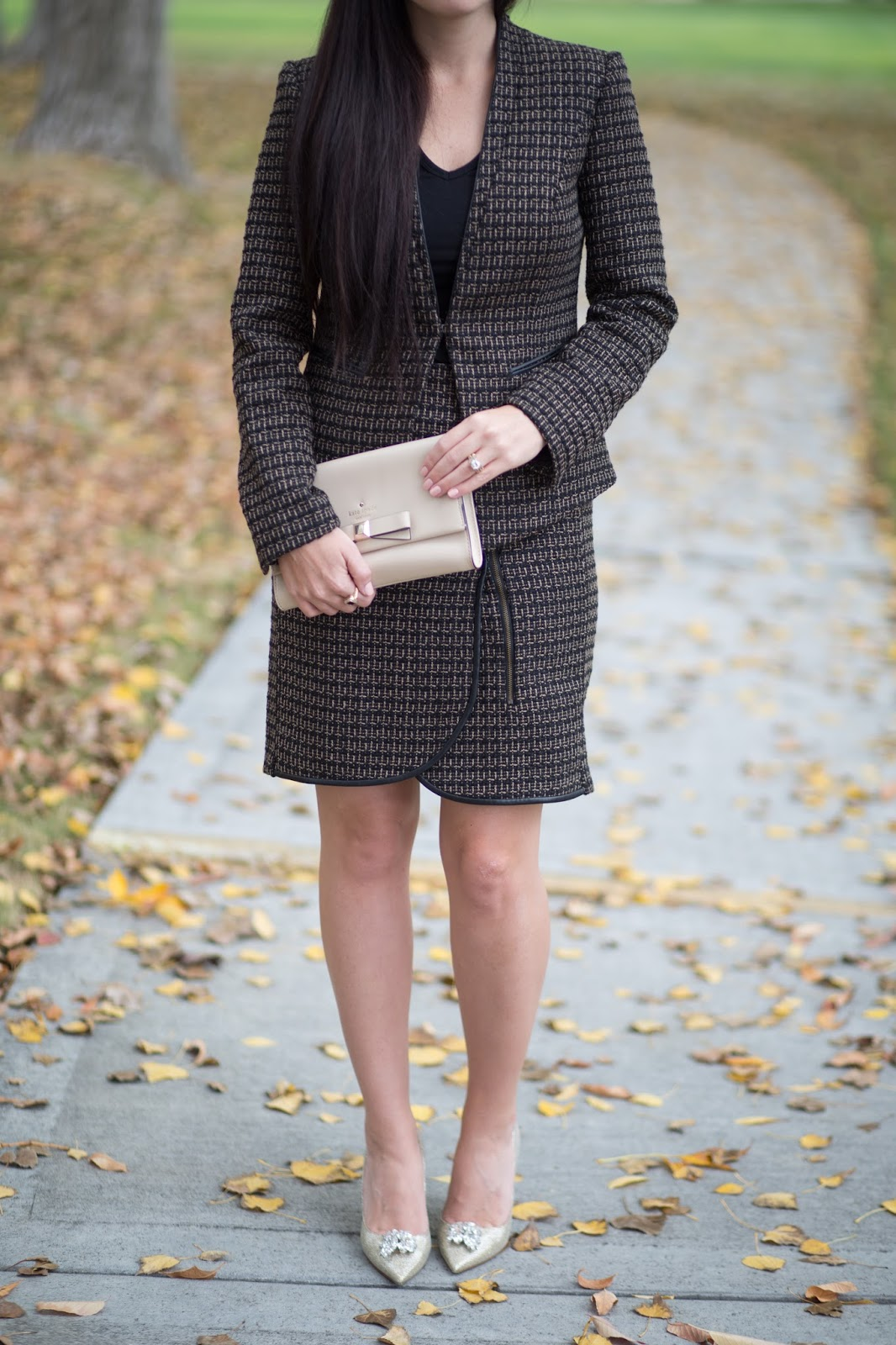 Adrianna Papell Tweed Dress Suit