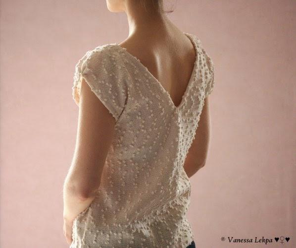 couture pull décolleté dans le dos patron gratuit style classique pour débutante couturière