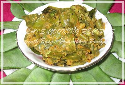 Hyacinth Beans / Avarakkai Poriyal
