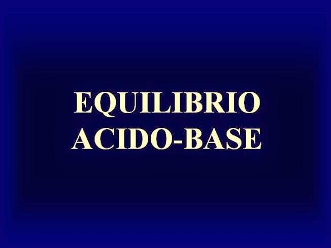 Fisiopatología del equilibrio ácido-base