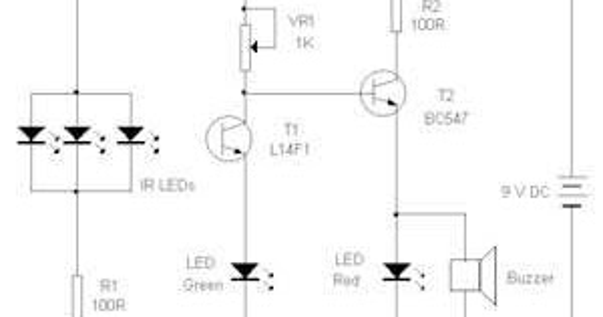 circuit diagram  infrared beam barrier proximity sensor