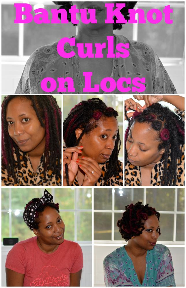 bantu knot curls on locs