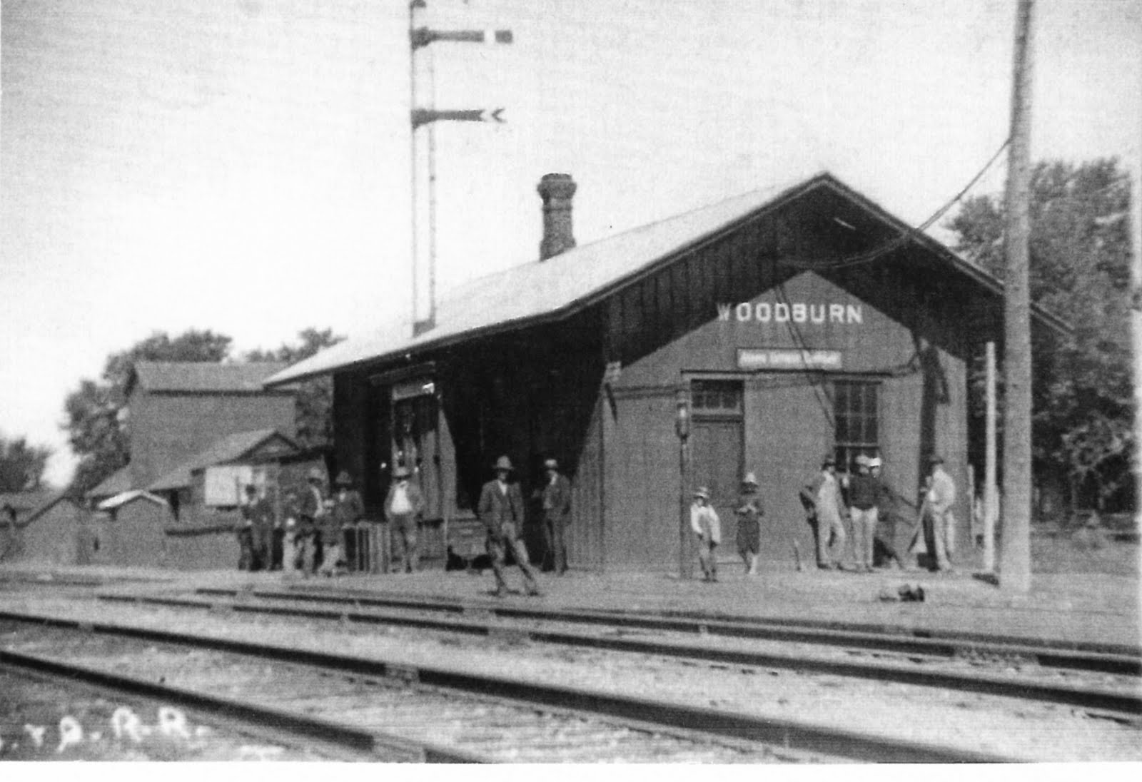 Woodburn Iowa History Railroad And Depot