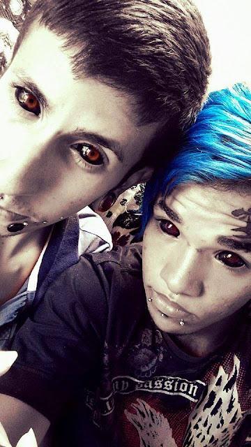 tatuaje, ojos, extraño