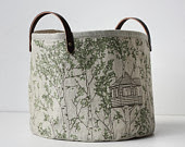 Storage Bucket Taupe Tree House