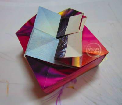 วิธีพับกล่องกระดาษน่ารักมีฝา  พับโอริกามิ โอริงามิ  papel ng DIY fold Origami bulaklak kahon saklob maganda, kung paano souvenir box DIYの折り畳み紙折り紙フラワーボックスリッドかわいい、どのようにお土産ボックスへ   DIY fold papir origami blomst kasse låg sød, hvordan souvenir kasse  DIY lipat kertas origami bunga kotak tutupnya lucu, bagaimana kotak souvenir