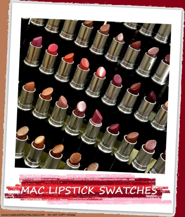 MAC Lipsticks Swatches Indian Darker Skin NC45 Makeup Beauty Blog
