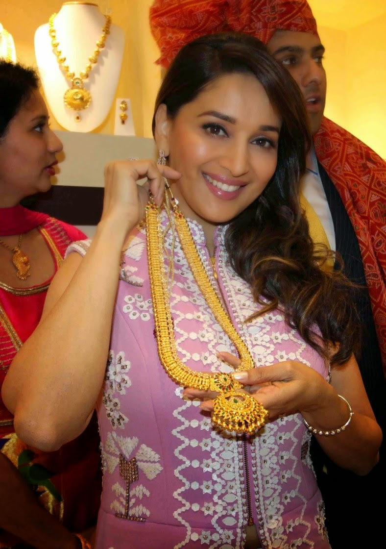 Actress Madhuri Dixit Latest Cute Hot Spicy Photos Gallery At PN Gadgil Jewellers Store Inauguration