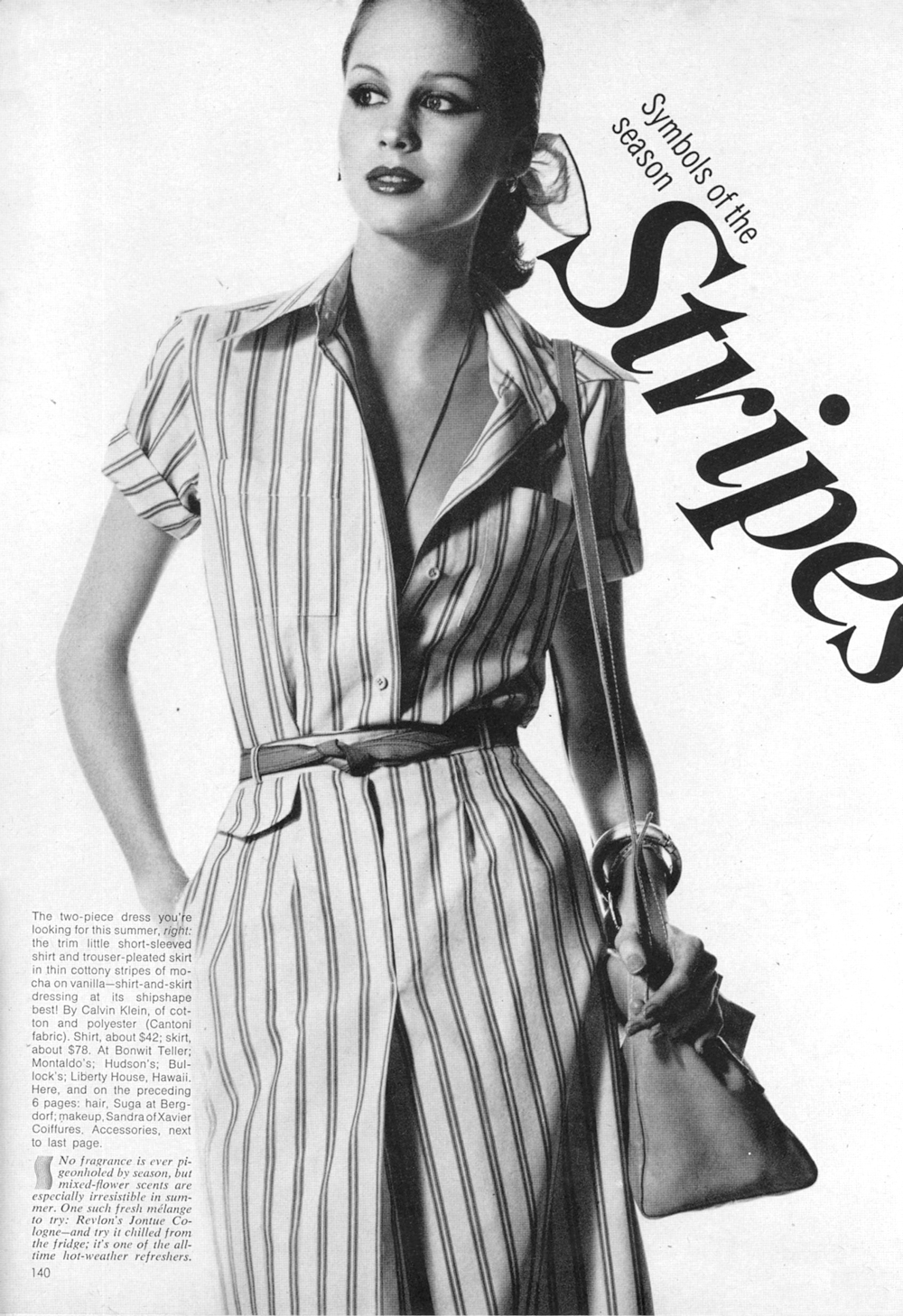 Calvin Klein shirt & skirt / shirtdress design from 1976 / via fashioned by love british fashion blog