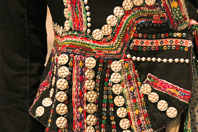 Vietnam tribal costume, embroidered tribal jacket Vietnam, appliqued ethnic jacket, Women's Musuem Hanoi