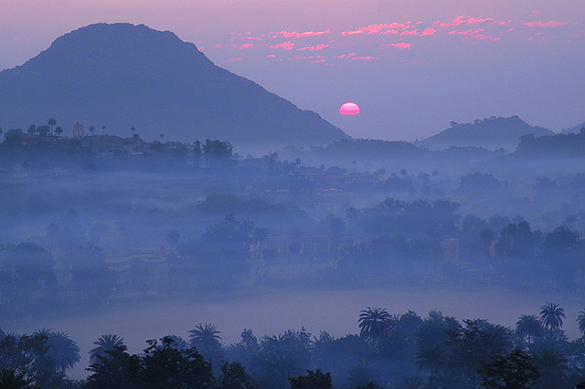 Sunrise view at Mount Abu