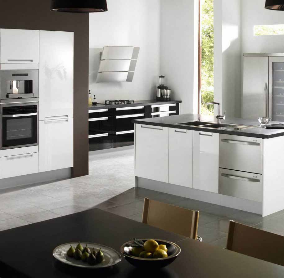 Kabinet Putih Untuk Desain Ruang Dapur Minimalis Modern
