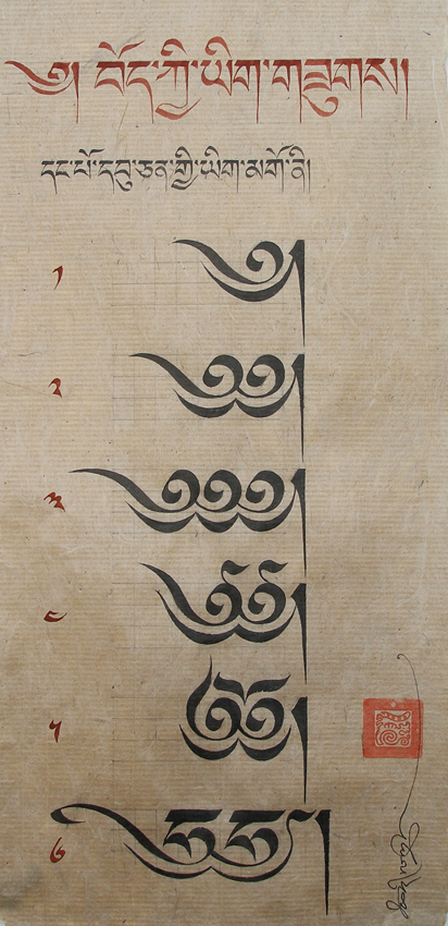 Related Tibetan Scripts The Heading Character And Script Construction