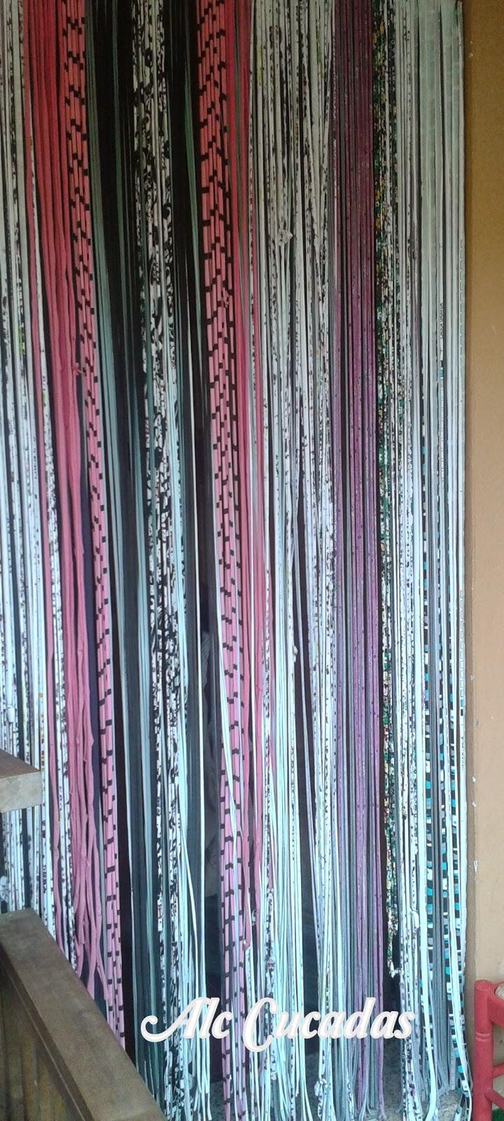 Alc cucadas cortinas de trapillo - Como hacer cortinas de tiras ...