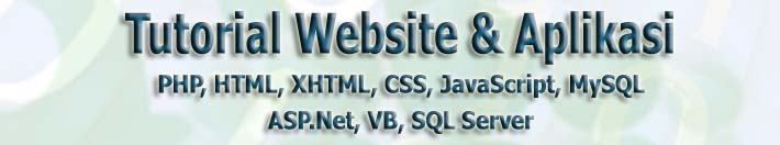 Tutorial Programming PHP HTML ASP.NET VB.NET Database MYSQL SQL Server | BartIQY