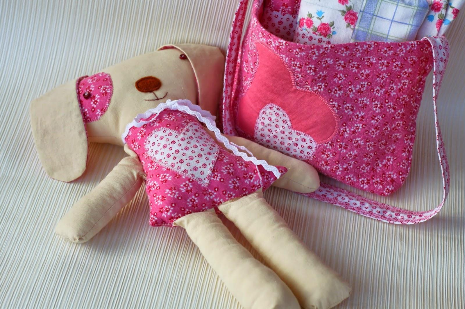 текстиль сумочка игрушка собака