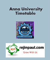 Anna University First Semester PG Timetable Regulation 2013