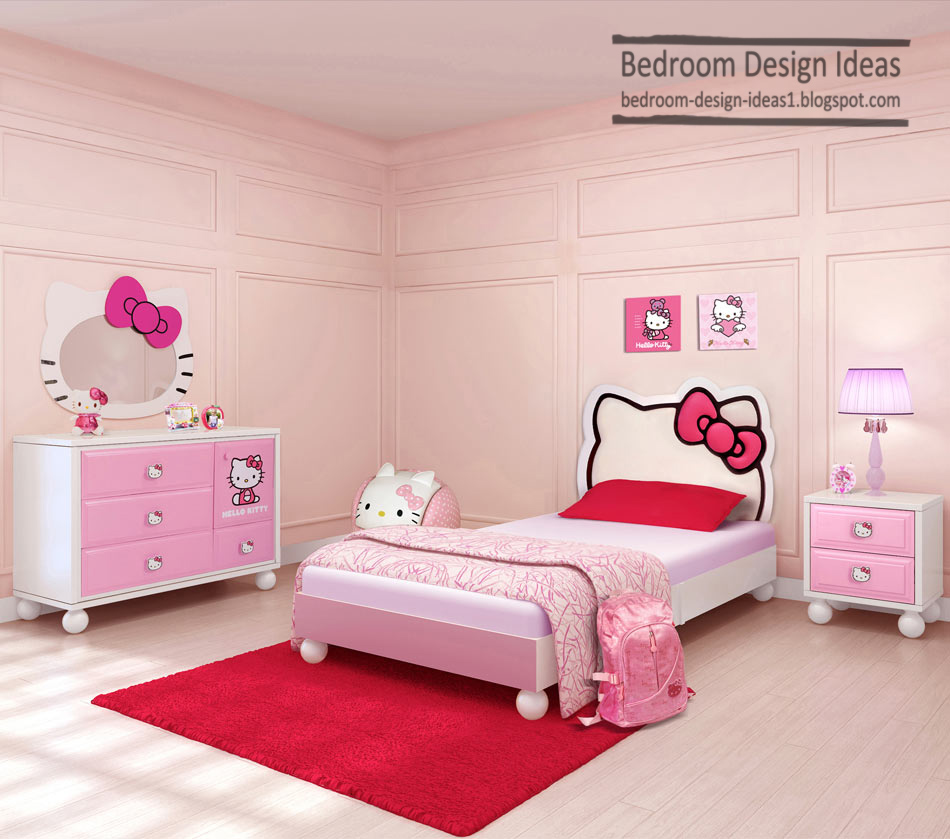 girls bedroom design ideas with modern bedroom furniture and wooden