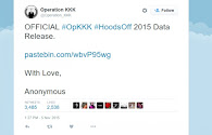 Anonymous Hacktivists Posts Alleged 'Real' Ku Klux Klan Sympathiser List