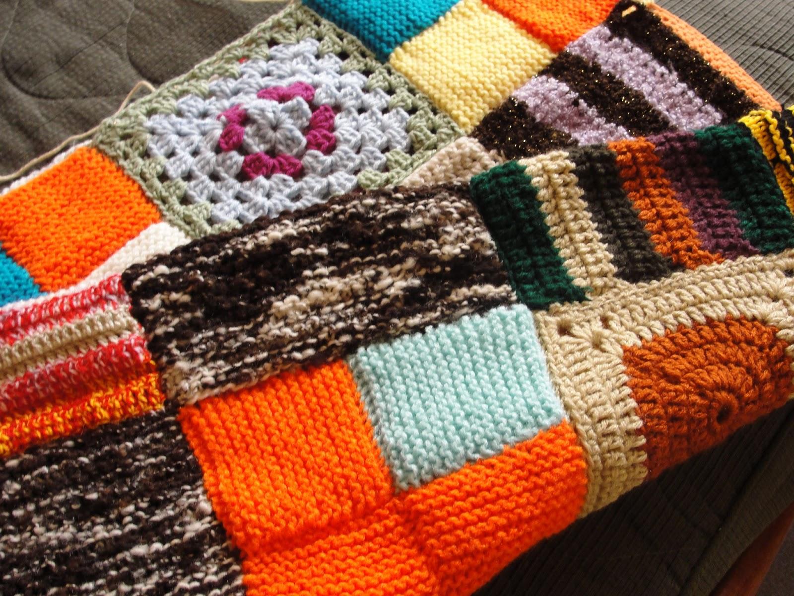 Tejiendo crochet tricot con pasi n tejido solidario - Mantas con fotos ...