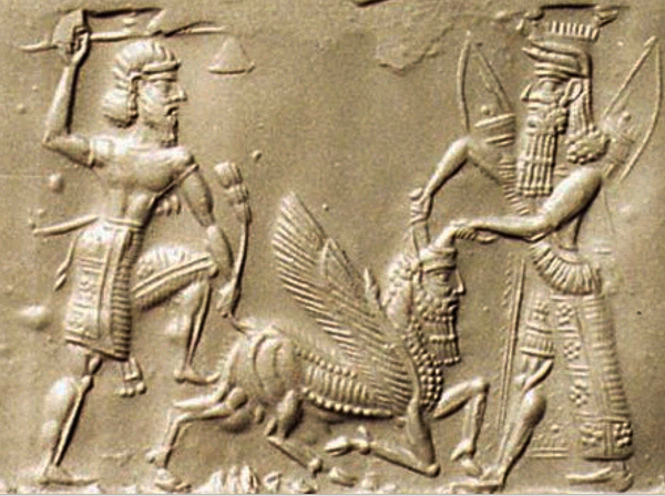 Gilgamesh s friend  the wild man Enkidu also appears on many images    Epic Of Gilgamesh