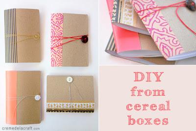 Libretas con cartón y papel de regalo por Recicla Inventa