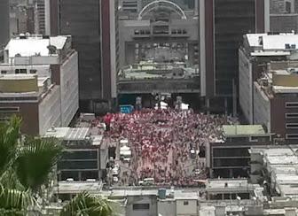 forista: No habia nadie en la concentración del Psuv en Plaza Caracas