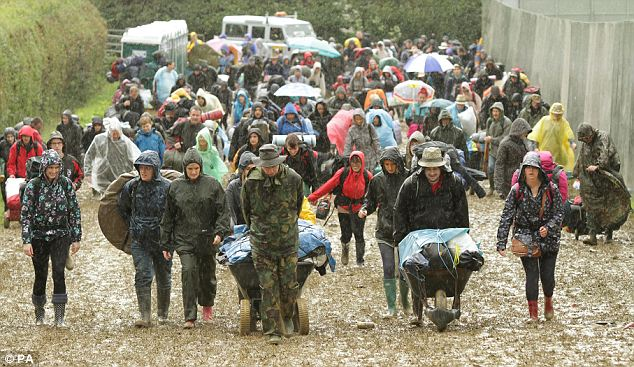 Wellies and winter coats will be order of the day as weather looks grim for Glastonbury