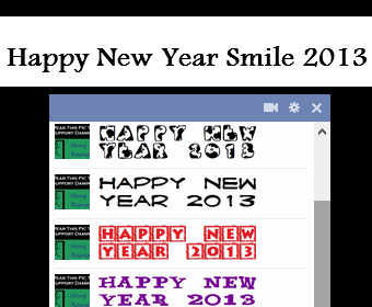 Happy New Year Facebook Smile 2013