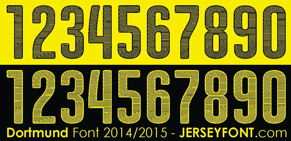 Borussia Dortmund Font 2014-2015