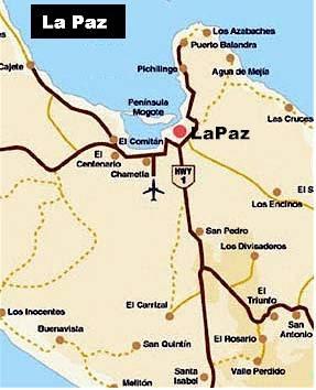 Mapa de La Paz Política Regional