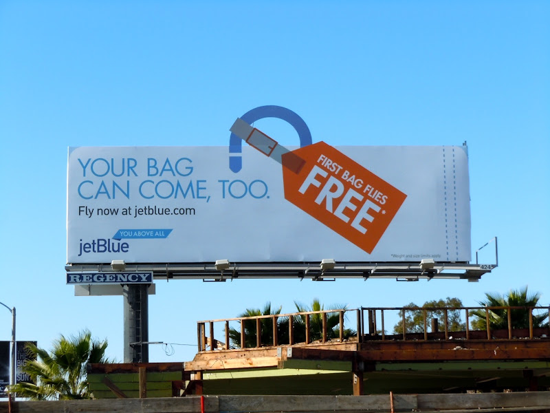 Jet Blue bag free billboard
