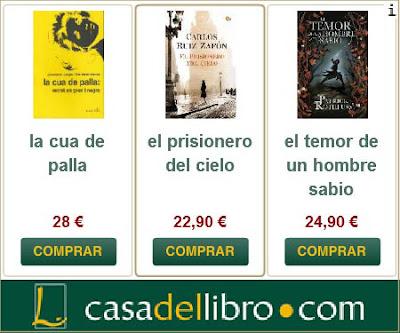 Publicitat web de La Casa del Libro
