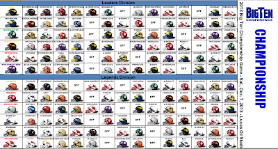 2013 NCAA College Football Helmet Schedule Spreadsheet