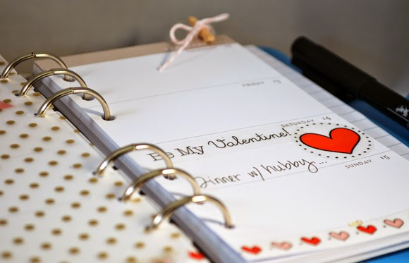 SRM Stickers Blog - Planner + SRM Stickers = AMAZING by Stacey #planner #february #valentine #twine #borders, #stickers #labels