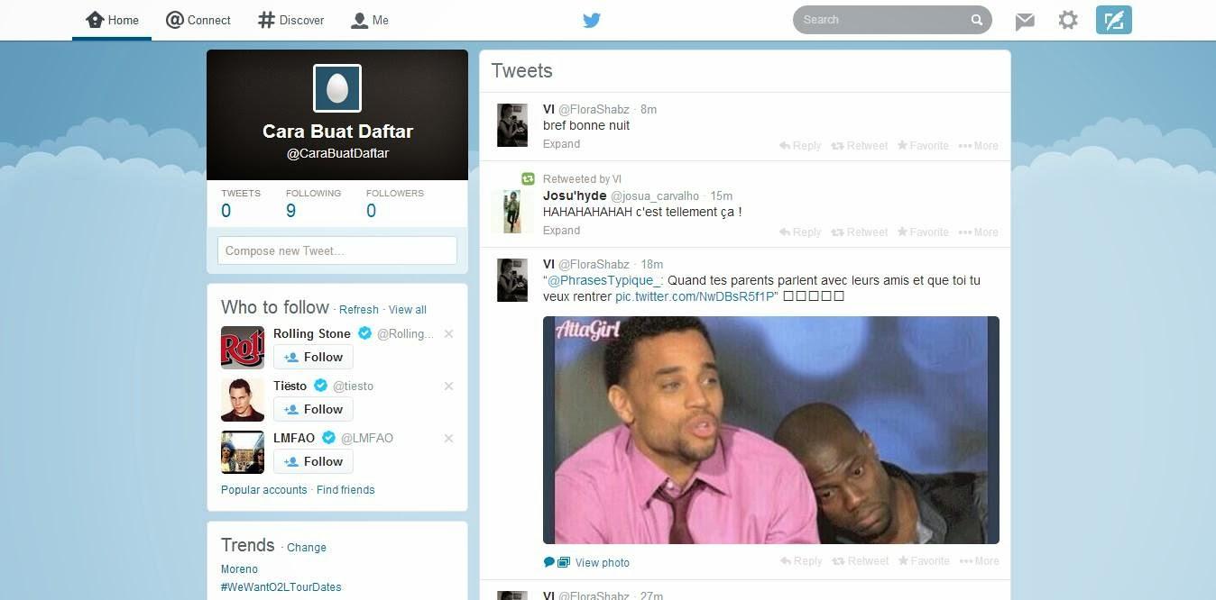 Tampilan Beranda Twitter Yang Telah Dikonfirmasi